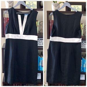 Silk J McLaughlin Sleeveless Dress Black White 14
